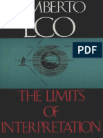 Eco, Umberto - Limits of Interpretation (Indiana, 1990)