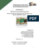 Proceso de Elaboración Del Cemento