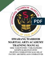 Hwarang Warrior Martial Arts Manual
