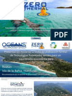 OTG-GENESIS PROJECT Presentation Featuring Zero Thermal for Roatan Bay Island Honduras-SPANISH