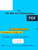 11 the Rule for Differentiation