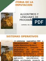 Algoritmos y Lenguajes de Programacion Sistemas Operativos UNIDAD 1 TEMA 1.2