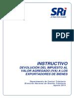 PRO ACT APC421 Instructivo Devolucion Del IVA Exportadores[1]