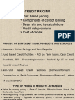 Credit Pricing - Risk Based