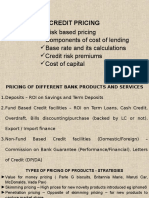 Credit Pricing - Risk Based
