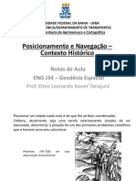 Aula 1 - Posicionamento e Navegação - Contexto Histórico