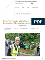 [When You Work for Allah's Sake - Part 1] Prerequisites of Being a Great Volunteer - ProductiveMuslim