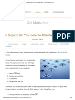6 Steps to Get You Closer to Allah (SWT) - ProductiveMuslim