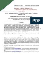 Las Representaciones Corporales- Una Propuesta de Estudio Desde Una Perspectiva Compleja.