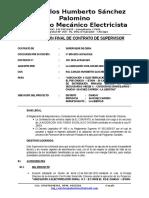 Informe de Liquidación Supervision Final