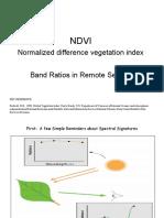 Band Ratio and NDVI