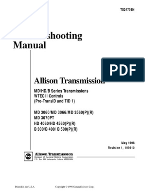 2013-09!22!223029 Allison Transmission Md3060 Trouble ... on