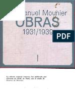 Mounier, Emmanuel - Anarquía y Personalismo