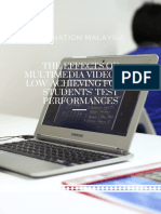 The Effects of Multimedia Videos on Low-Achieving Form 1 Students' Test Performances