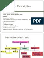 Numerical Descriptive Measures 1