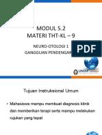 9. Neurootologi 1 - Modul 5.2 - Ganguan Pendengaran
