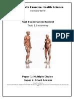 past exam booklet topic 1 anatomy