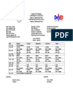 Class Schedule 9 Molave Schedule