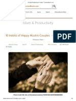10 Habits of Happy Muslim Couples - ProductiveMuslim