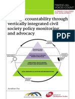 ScalingAccountability through vertically integrated cilvil society policy monitoring and advocacy