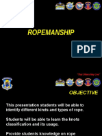 Ropemanship and Knot Tying