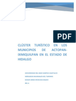 Integración de Un Clúster Turístico en Los Municipios de Actopan