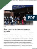 Elite K-8 School Teaches White Students They'Re Born Racist _ New York Post