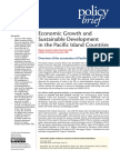 Economic Growth and Sustainable Development in the Pacific Island Countries
