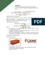 Ladrillo Caravista Refractario Macizo Tejar Aplantillado y Perforado