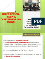 EDU555 WEEK 3 Interaction, Taba & Contemporary Model