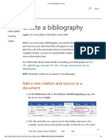 Create a Bibliography - Word