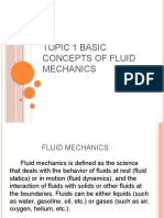 Topic 1 Basic Concepts of Fluid Mechanics