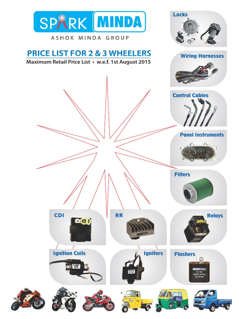 Minda Products Price List | Ignition System | Electrical Wiring