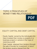 Topic 2 Principles of Money-time Relationship