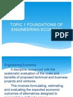Topic 1 Foundations of Engineering Economy