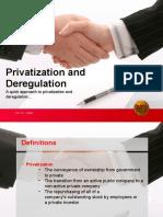 Privatization and Deregulation NhoelRes