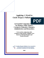 Applying a Model to Guide Hospice Palliative Care Toolkit