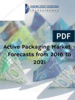 Active Packaging Market | Industry Trends and Forecast | 2016 to 2021