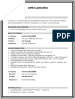 Sample_CV for civil engineer