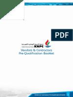 Vendors Contractors Prequalification Booklet