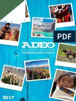 Brochure Adeo - Les Confins du Monde 2017