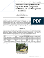 Case Study on Output/Productivity of Pneumatic Tired Vibratory Roller (Earth Compaction Equipment) under Different Job and Management Conditions