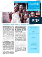 UNICEF DRC — Factsheet  on the situation of children in DRC