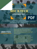 MDU Admission 2017