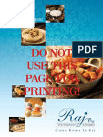 raj restaurant menu