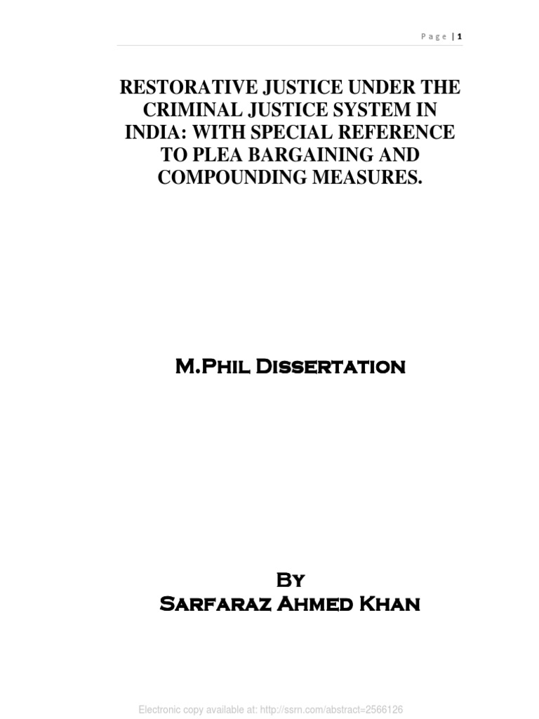 Dissertation on plea bargaining in india users rcn photosynthesis