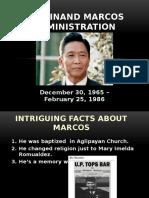 Ferdinand Marcos Administration