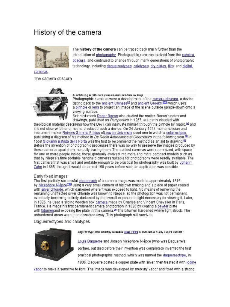 History of the Camera | Digital Photography | Camera