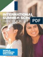 INTERNATIONAL SUMMER SCHOOL HANDBOOK