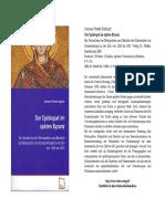 Der Episkopat im späten Byzanz. Ein Verzeichnis der Metropoliten und Bischöfe des Patriarchats von Konstantinopel in der Zeit von 1204 bis 1453